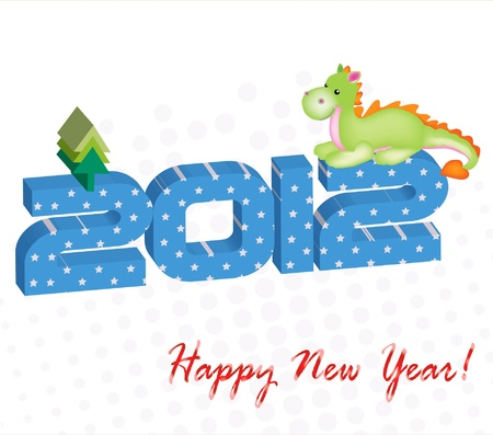 Card new year Stock Vector - 11289028