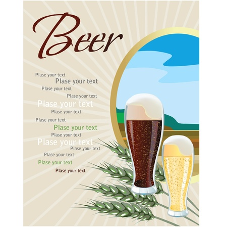 Beer. place for your text. Vector