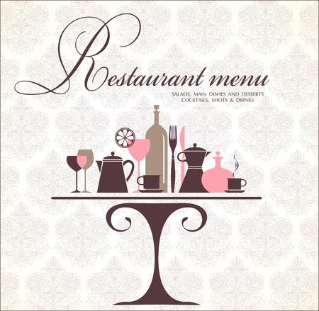 shots alcohol: Vector. Restaurant menu design