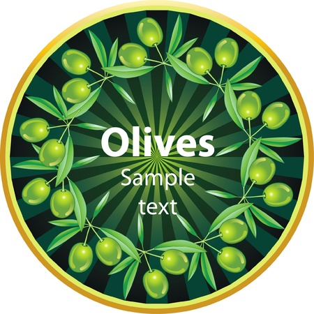 Label for product. Olive oil. Green olives. Stock Vector - 11648285