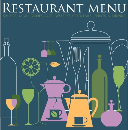 Restaurant menu design Stock Vector - 12166407
