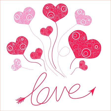 cupid man: love cards Illustration