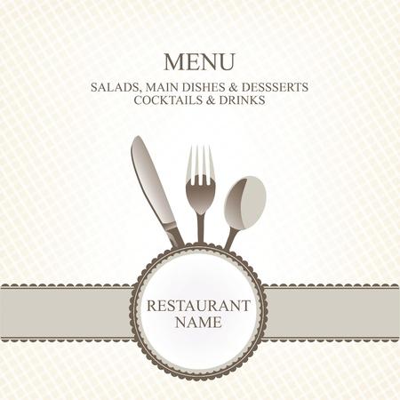 serviette: El diseño del menú del restaurante Vectores