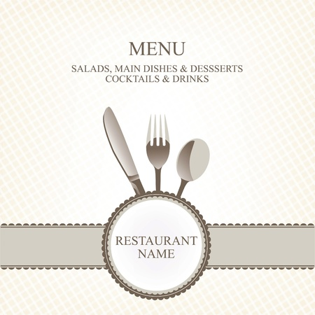 serviette: Restaurant menu design