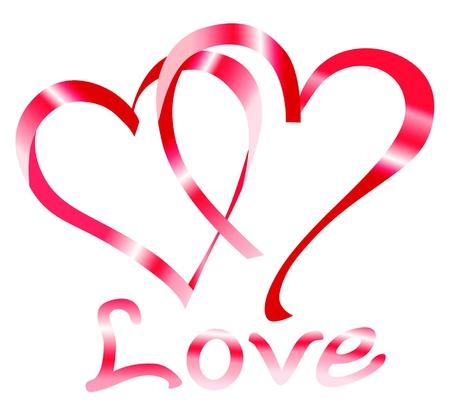 honeymoon: Valentines day Love hearts in vector format Illustration