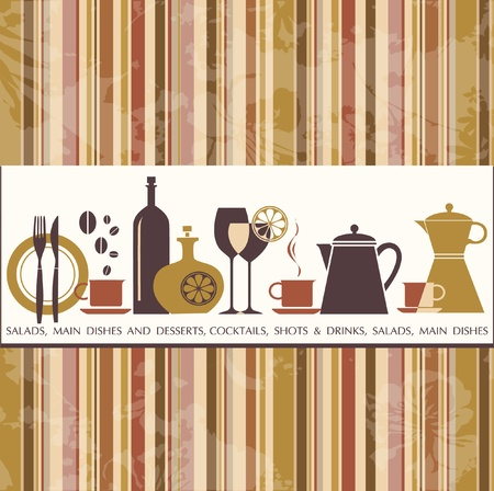 dessert fork: Restaurant menu design