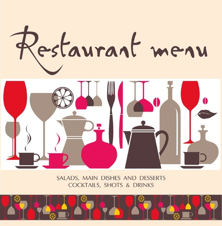 tableware: Restaurant menu design  Illustration