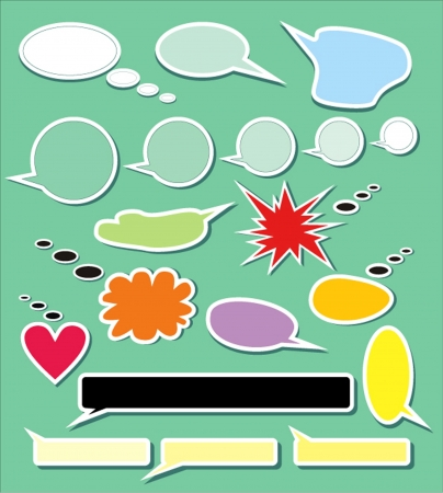 set of speech and thought elements Vector