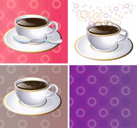 sizzling: illustration of coffee aroma