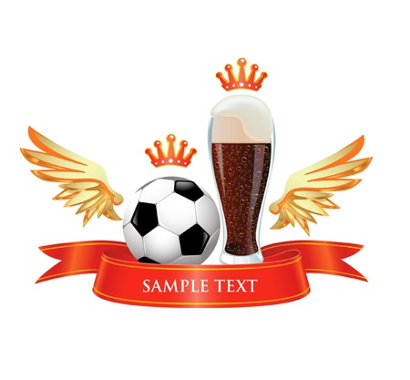 Beer end football Vector