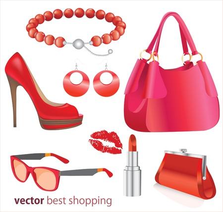 moda urbana: Mujer de compras silueta mejores tiendas, ilustraci�n con salpicaduras