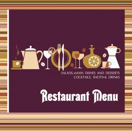 Vector  Restaurant menu design Ilustração