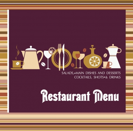 coffee spoon: Vector  Restaurant menu design Illustration