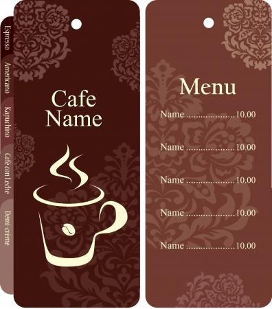 marcadores de libros: Men� para restaurante, cafeter�a, bar, cafeter�a Vectores