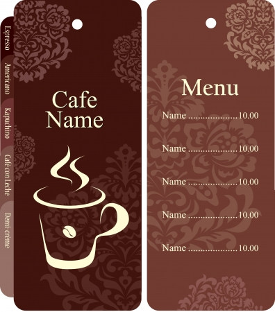 eacute: Menu for restaurant, cafe, bar, coffeehouse