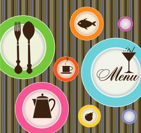Creative advertizing menu for restaurant Stock Vector - 14838207