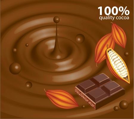 pudding: Chocolate background