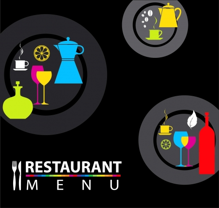 lifestyle dining: Creative menu Illustration