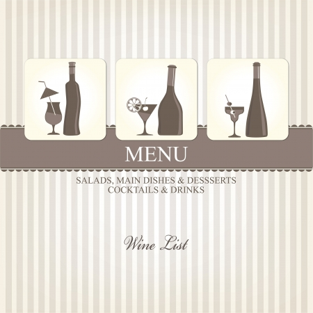 Wine list design Stock Vector - 16701832