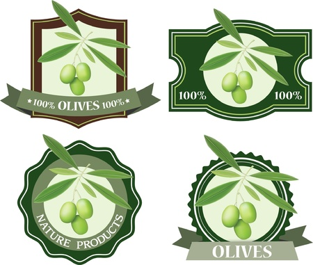 Olives labels  Vector