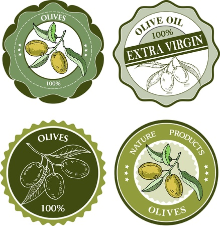 Olives labels collection Vector