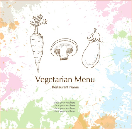 Restaurant Vegetarian Menu Cards Stock Vector - 19146492