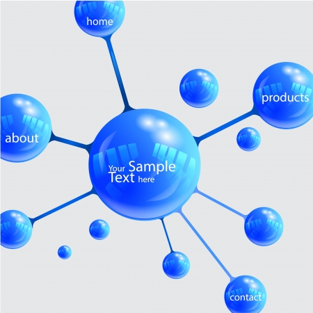 Illustration - presentation elements in Molecule Vector