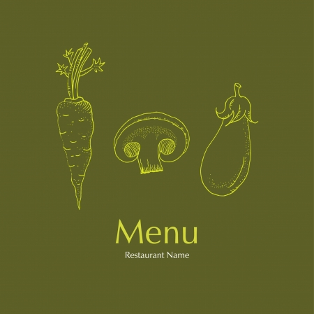 Restaurant Vegetarian Menu Cards Design Vector