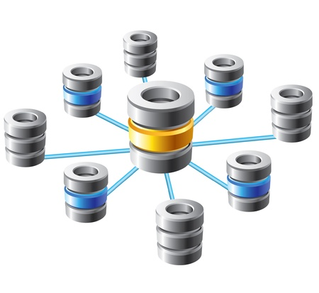 datacenter: Database and networking concept