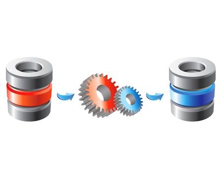 mobile data: Scheme of the database migration