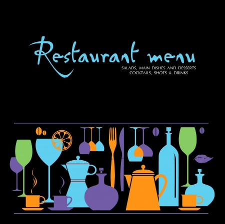 restaurant menu Ilustração