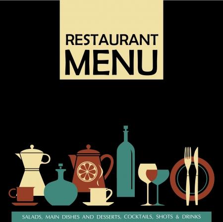 restaurant menu Illustration
