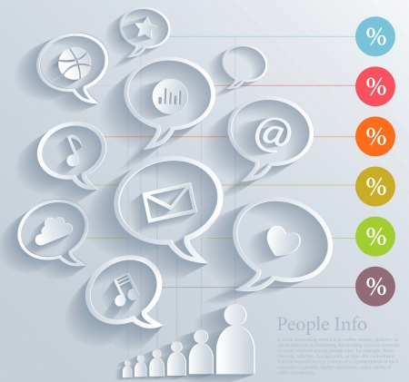 mail marketing: Social media concept Illustration