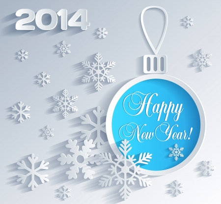 New Year card with Christmas ball decoration Vector