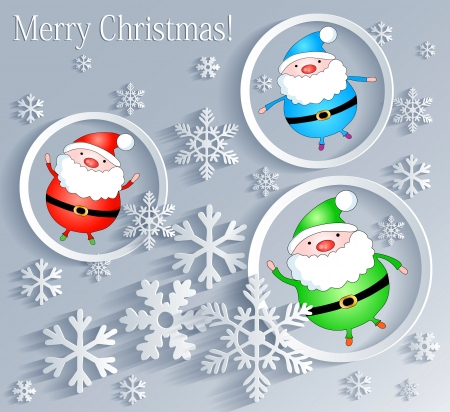 father frost: Merry Christmas  Card with Fathers Frost