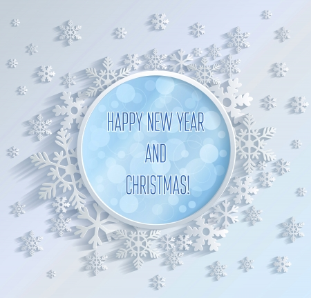 Merry Christmas and Happy New Year - Illustration Vector