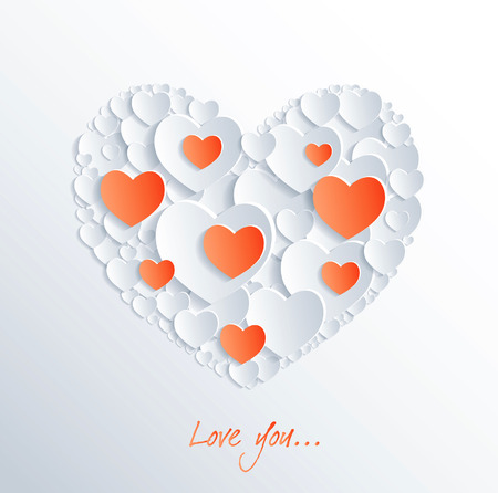 valentines card: Illustration - greeting valentines card