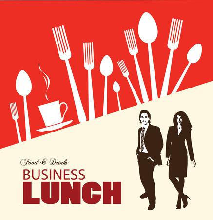 Business menu lunch. Vector