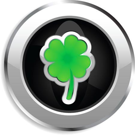 Shiny web button for St. Patricks day Illustration