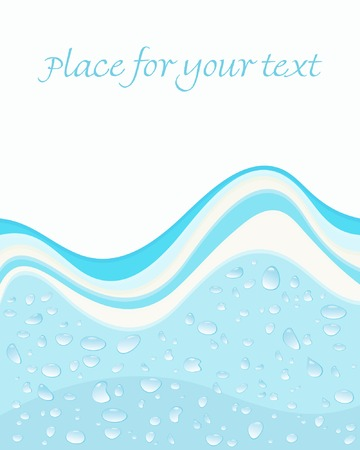 Water drops and waves background
