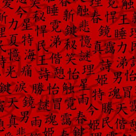 Kanji seamless pattern Stock Vector - 6614197