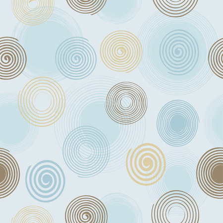 rounded circular: Seamless twirls pattern