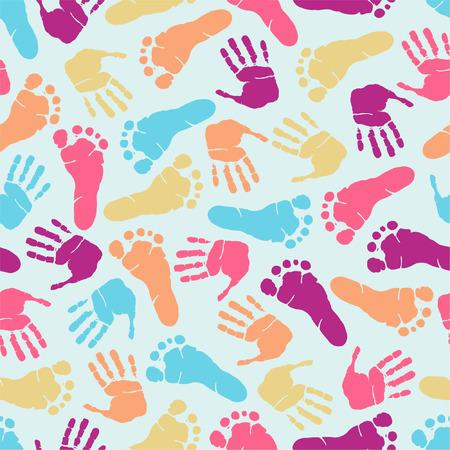 Seamless footprint pattern