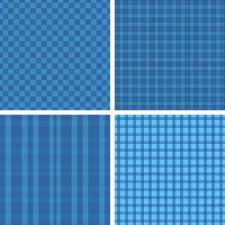 Plaid blue patterns Illustration