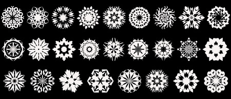 Big collection of beautiful snowflakes