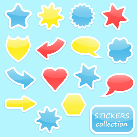 Colorful stickers collection Illustration