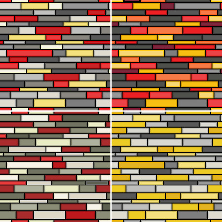 Seamless abstract wall patterns