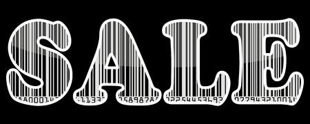 Sale barcode sticker Illustration
