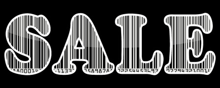 Sale barcode sticker Illustration