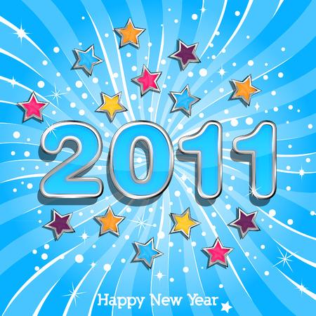 Happy New Year 2011 Vector